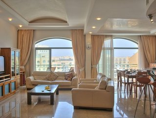 Spacious Portomaso Marina apartment in Malta with WiFi, integrated air condition