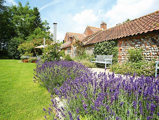 Pear Tree Cottage  is surrounded by unrivalled views of open North Norfolk count