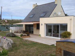 Maison de vacances face à la mer Kerlouan Nord Finistère 8 personnes 4 Couchages
