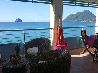 Le Bonheur aux Caraibes T3 de 75 m2 pleine vue mer des Caraibes