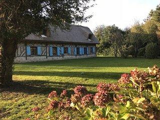 Chaumière pleine de charme proche Honfleur et Deauville
