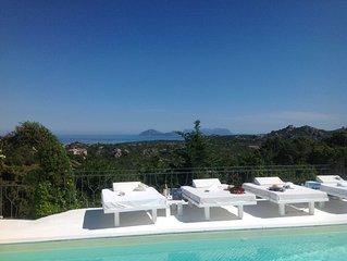 Porto Cervo -Vista Mozzafiato sulle isole, splendida Villa in Costa Smeralda