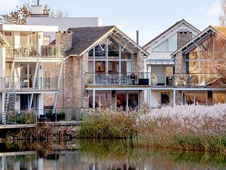 Contemporary Glass Fronted Lakeside Villa, With On Site Luxury Spa