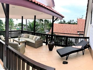 Amazing 3 bedroom sea view villa with plunge pool & roof terrace.