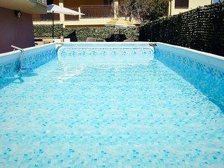 Valledoria grande Villa con piscina per 10 persone a 500 metri dalla spiaggia