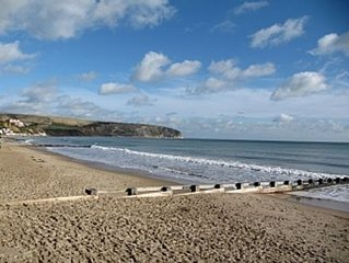 Swanage. Sunny South facing  ground floor apartment . Own garden.Pet friendly