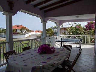 La Villa Mauve calme a 200 mètres de 3 belle plages