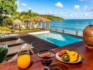 La Sirene du Diamant, villa de luxe  7 chambres-piscine -vue mer-sur la plage
