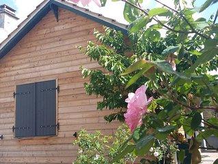 Moret sur Loing, petite maison recouverte de bois