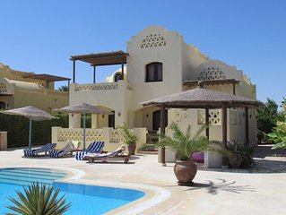 El Gouna holiday villa with heated pool, between 2 lagoons