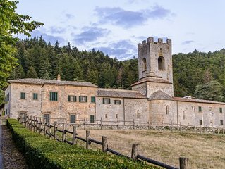 Castle Apartment in Badia Coltibuono with 3 bedrooms sleeps 5