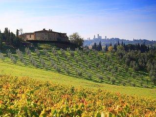 Montegonfoli 6, Appartamento in San Gimignano per 4 ,  con 2 bagni 'en suite'