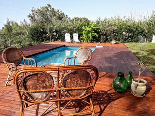 Cosy & spacious countryside Villa with Pool and Garden,near the Sea and Cefalu