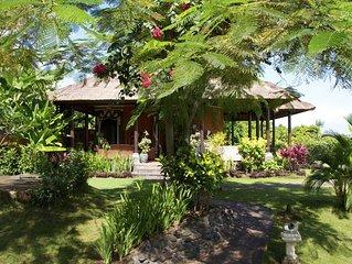 Villa balinaise typique avec magnifique piscine paysagée