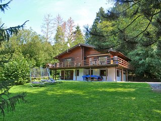 Beautiful wooden chalet with large garden and balcony, located in Barvaux