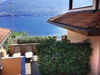 Lake front villa with beautiful lake view, POOL & private beach, Lake Como