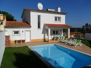 Spacious villa with private pool and internet in village near Sao Martinho