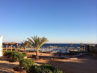 Lovely apartment with pool beach front at Canyon Estate Dahab