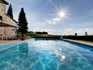 Secluded private location, but strategic to main attractions of Chianti hills