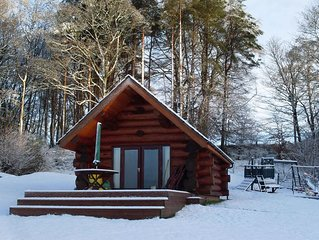 Authentic Log Cabin, With Fishing Rights On River Lyne