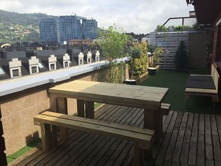 atico con gran terraza en oviedo