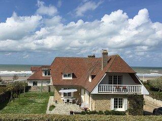 Belle maison avec grand jardin plein sud, sur la plage de Deauville-Benerville