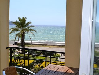 Sunset A9 1 bedroom beach front holiday apartment, located on Calis beachfront