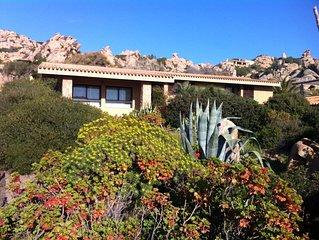 Villa Sole 3-Costa Paradiso 9 posti + piscina con vista tra i graniti e mare