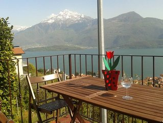 Quiet comfortable home, sunny terrace with marvelous view, walk to lake, wifi