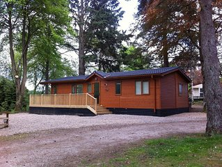 Luxury Lodge With Large Decking Area Overlooking The Famous Birnam Hill
