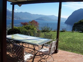 Villa Daniela is by the lake Iseo with amazing view surrounded by olive trees