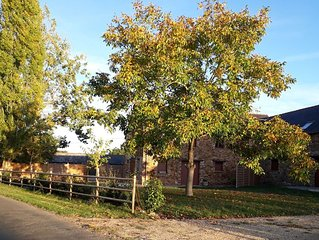 Charming and modern gite with heated swimming pool in rural setting near Angers
