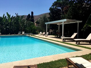 Fantastic pool surrounded by a 10,000 square meters of private garden