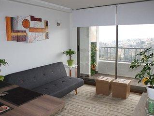 Acogedor Apartamento nuevo en Valparaíso, con Netflix y Estacionamiento