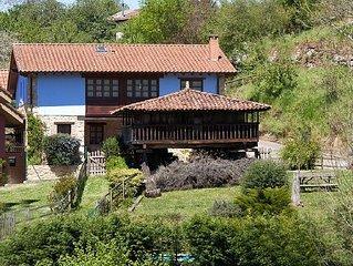 Casa con jardín y piscina entre Picos de Europa y playas de Villaviciosa