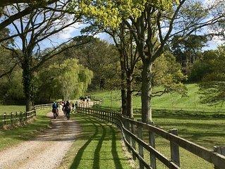 Rushcroft Cottages enjoy a peaceful farm setting