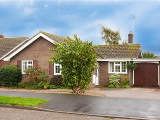 A lovely, light three-bedroom bungalow in a quiet location in Brancaster Staithe