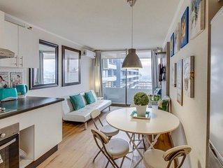 Bonito y acogedor, vistas y metro en la puerta. Ideal para familias
