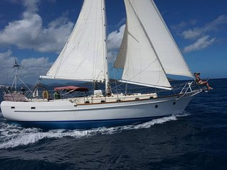 Caribbean holidays in a 44ft sailing boat