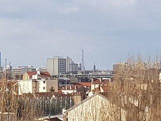 Vue Tour Eiffel appartement 72 m carré