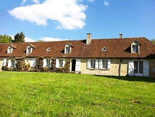 Grande maison de Famille avec piscine au coeur du Perche, Moins de 2h de Paris