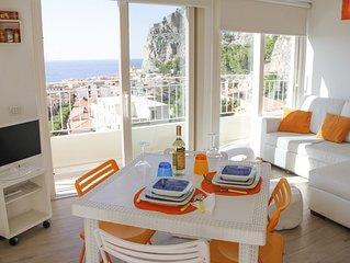 Delizioso attico centrale a Cefalù con incantevole e panoramica vista sul mare