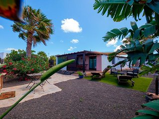 Villa in Lajares with private garden next routes of hiking.