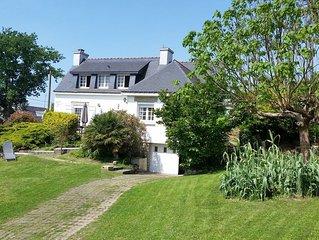 Maison de vacances en plein coeur du Golfe du Morbihan, plages à pied.