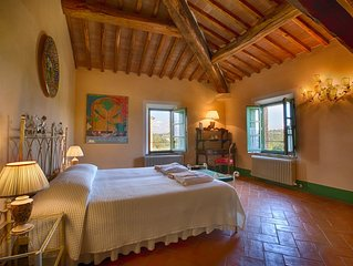 PODERE SALICOTTO - ARANCINO Stylish Comfort Double Bedroom - Tuscan Villa w/view