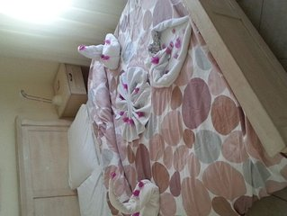 lovely apartment with two rooms in a big villa very close to the sea.