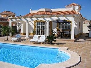 Beautiful villa with private heated pool on 5* Fuerteventura Golf Complex