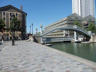 PARIS La Villette (France) APPARTEMENT, residence de standing  - PARKING, WIFI