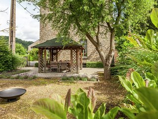 Authentic village house with romantic garden and wooden gazebo.