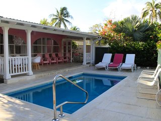 PINK VILLA – NEW PRIVATE POOL – GREAT LOCATION THE WEST COAST